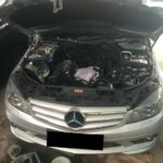 Service Mercedes Benz C250 W204 Suara Mesin Berisik, Kebocoran Oli