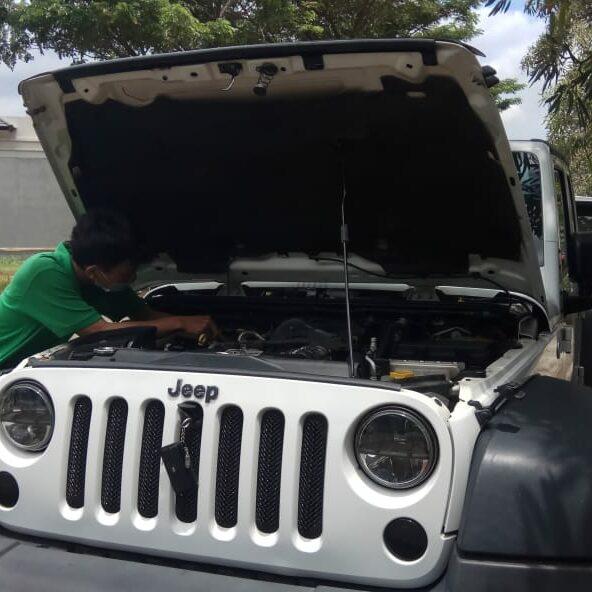 Service Jeep Wrangler Rubicon Mati, Mobil Tidak Bisa Starter